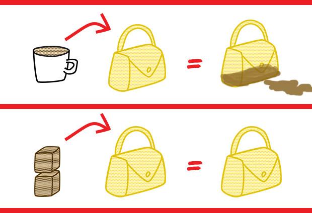 cubes de café à transporter