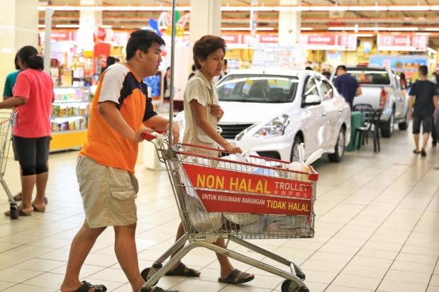 charriot non-halal malaisie