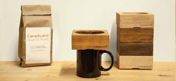 Canadiano filtre à café en bois