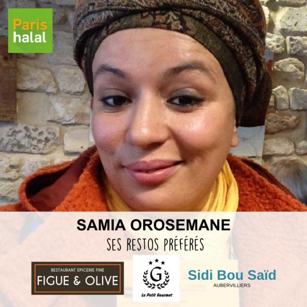 Samia Orosemane restos préférés