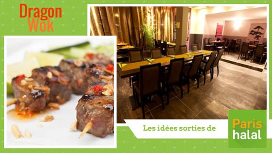 Dragon wok halal Paris 75019 Sortie halal
