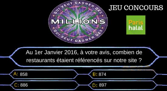 Question jeu concours Abdelkarim Paris-Halal