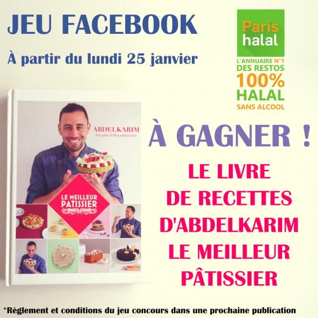 Jeu concours facebook abdelkarim Paris-Halal