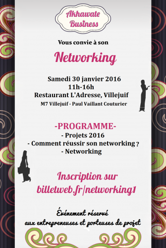 Networking Akhawate L'Adresse Veget Ou Rien
