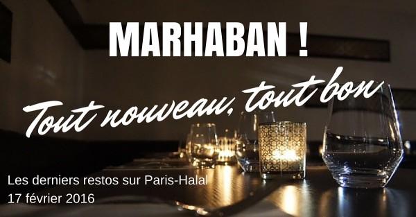 Nouveaux restos sur Paris-Halal