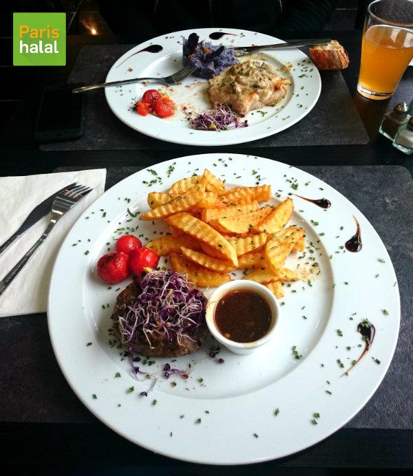 Steak haché pommes frites Au Miel d'Orient