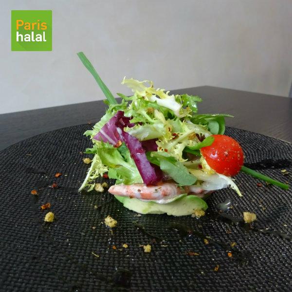 Salade avocat crevettes Au Miel d'Orient