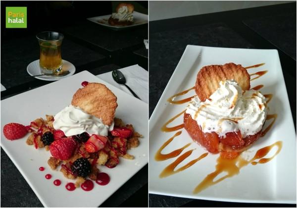 Crumble fraises et tarte tatin Au Miel d'Orient
