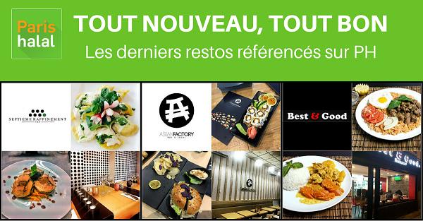 nouveaux restaurants halal sur Paris-Halal