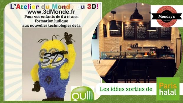 3D, monday, restaurant, halal, atelier