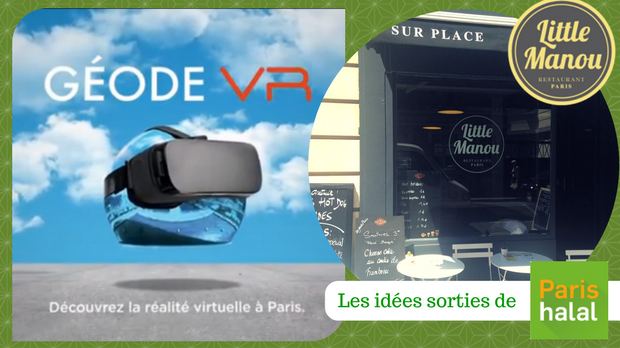 VR, géode, réalité virtuelle, restaurant, halal, little manou