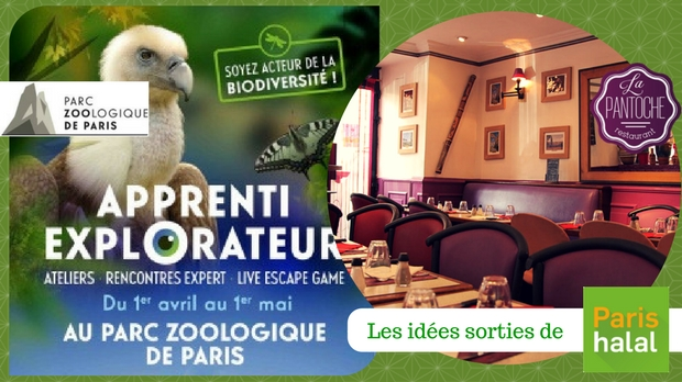 zoo de paris, escape games, restaurant, halal, pantoche