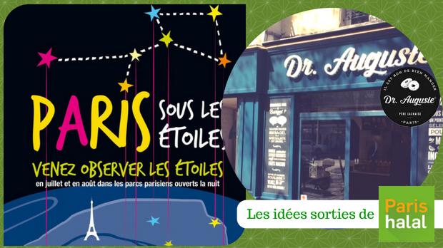 Nuit, étoiles, paris, restaurant, halal, sortie, originale, halal, famille, que faire avec les enfants, Dr Auguste,