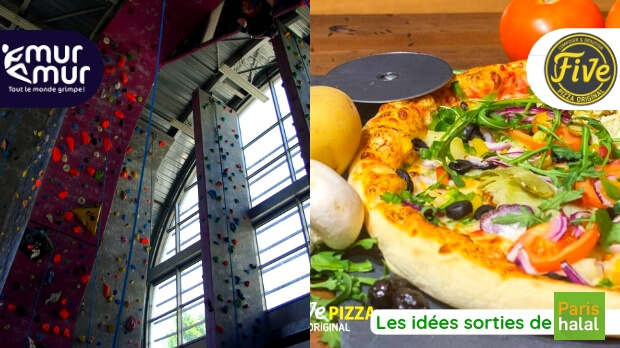 pizza, sortie, famille, s'amuser, grimper, sport