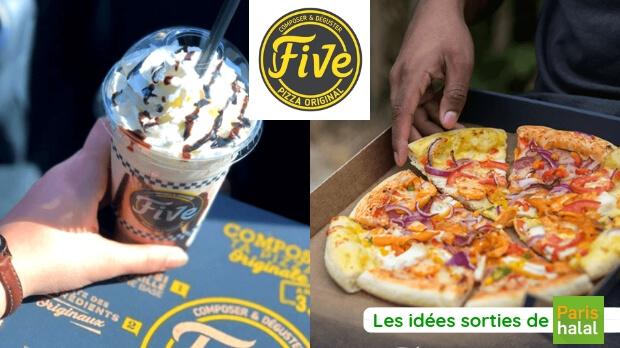 pizza, halal, milkshake, innovant, saveur, paris, restaurant, five pizza